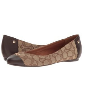 NWOT Chestnut Brown Coach Chelsea Flats
